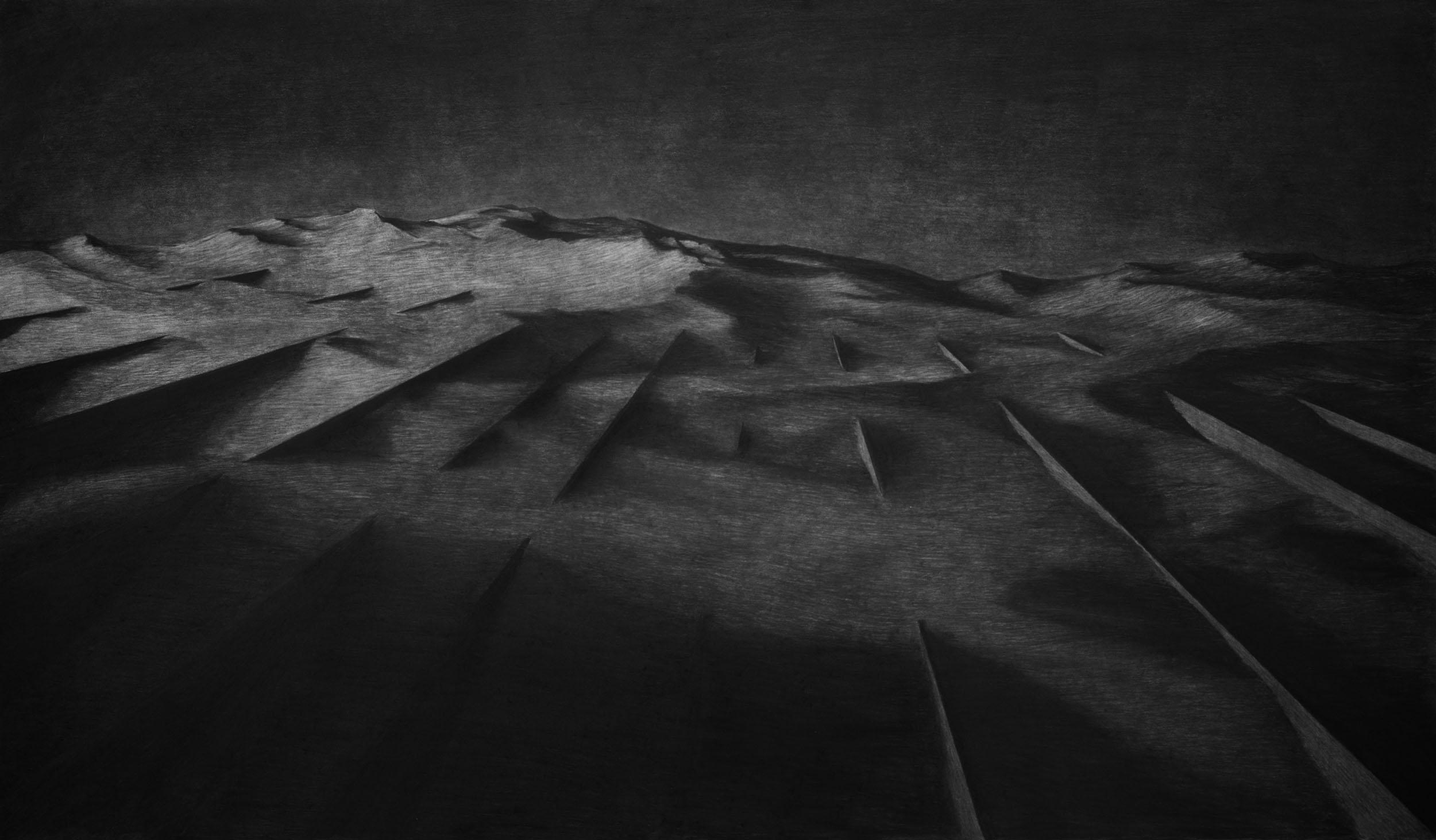 Charcoal drawing | 2016 | 205 x 120 cm