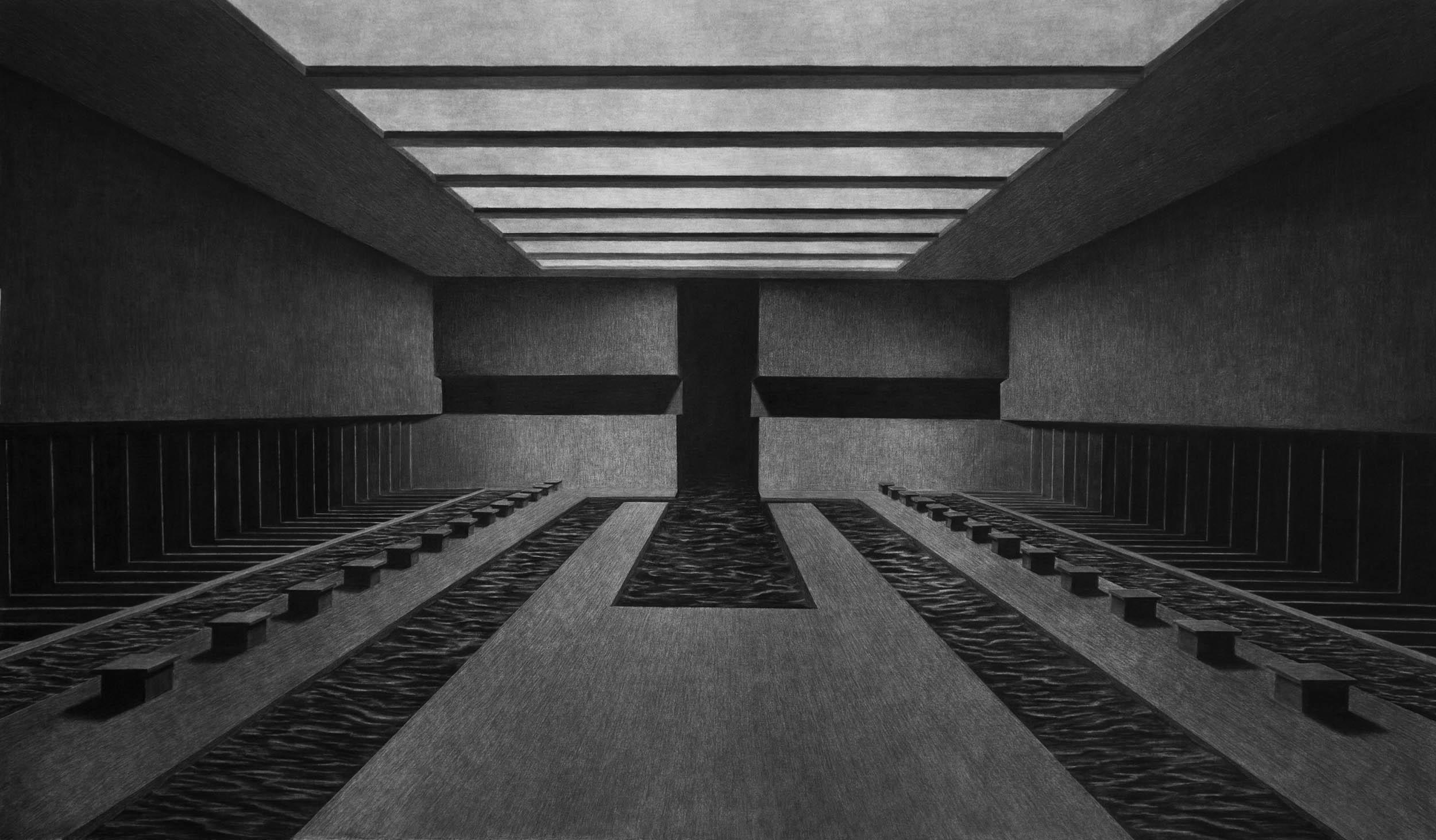 Charcoal drawing, 205 x 120cm, 2017