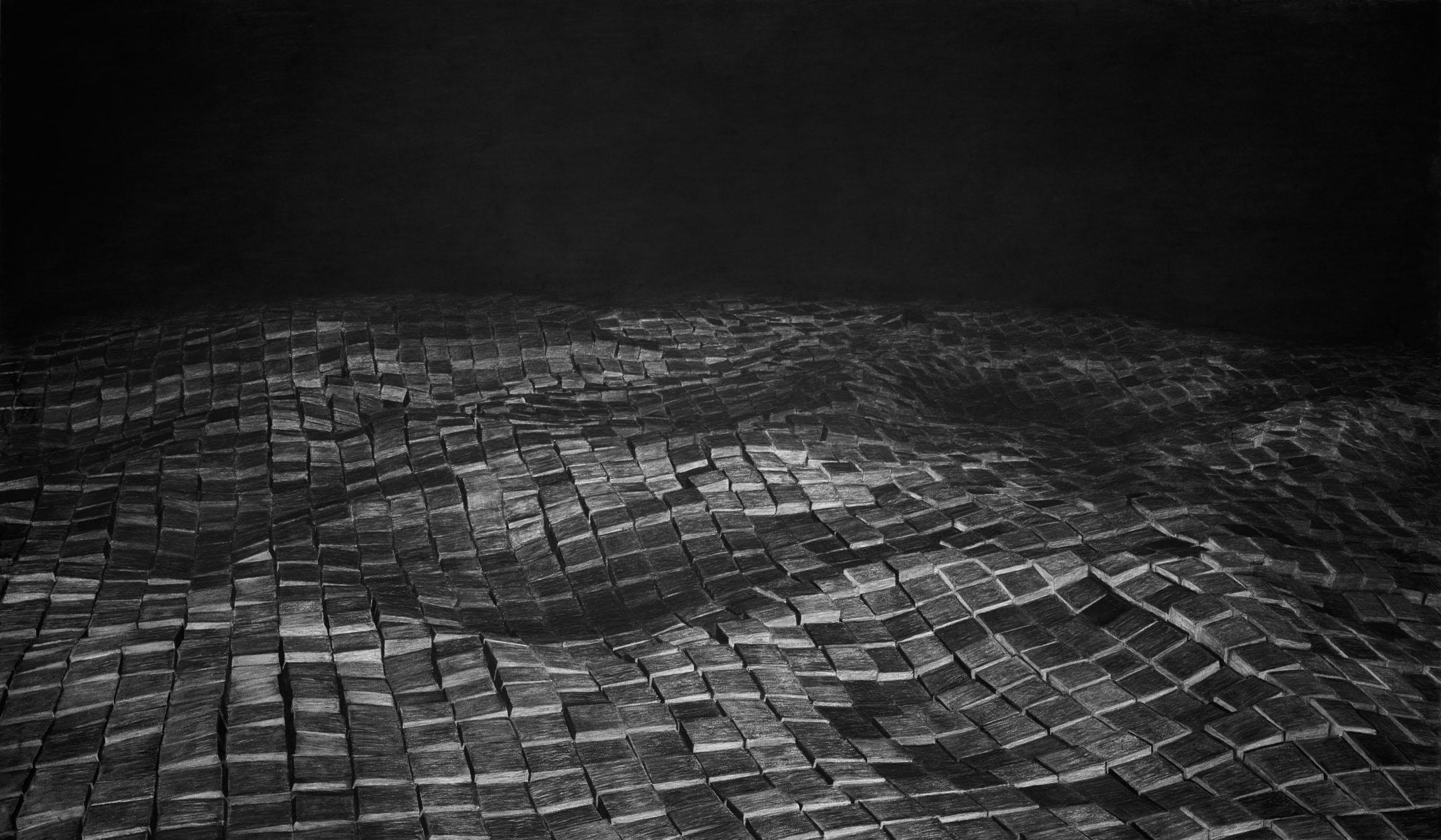 Charcoal drawing | 2016 | 150 x 88 cm