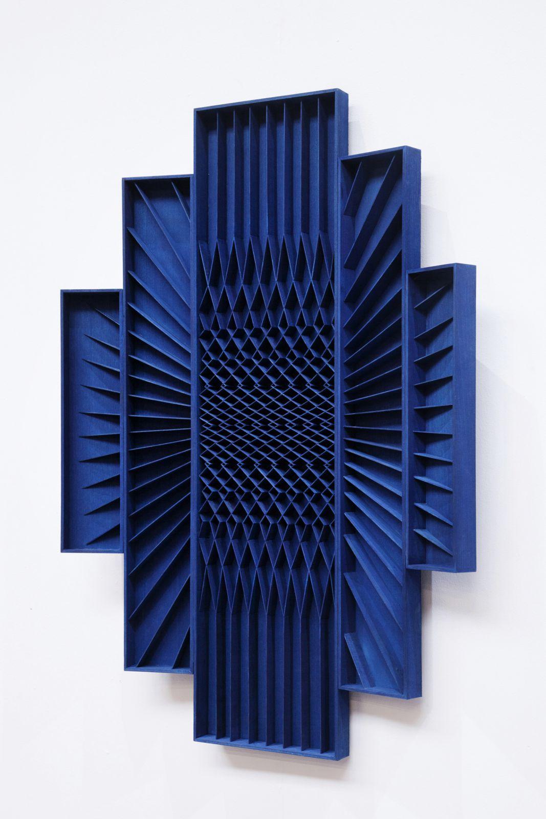 100 x 70cm, wood, cobalt ink, 2017