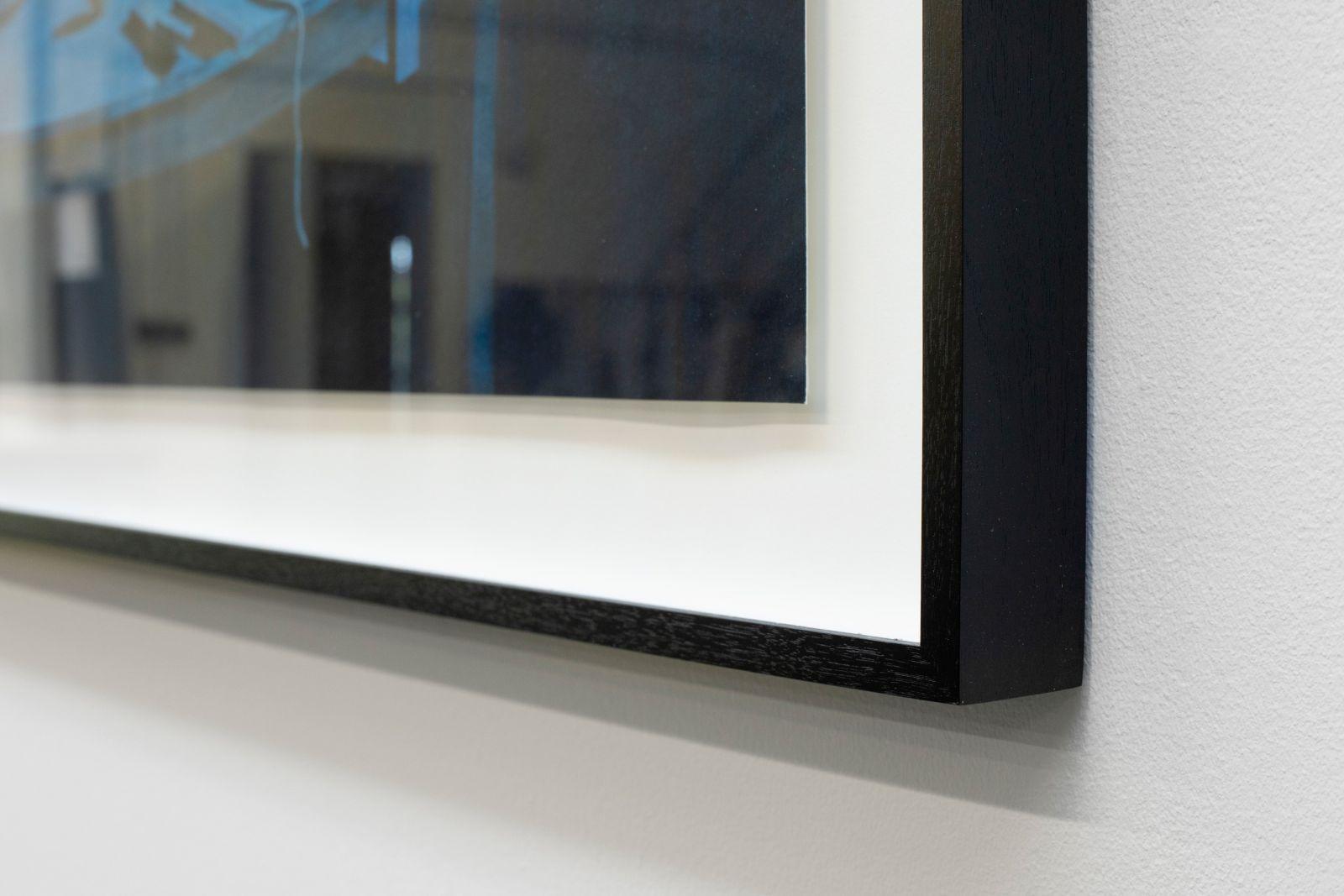 Acrylic on Hahnemuhle paper, Framed, museum glas, black walnut-wood